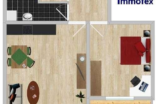 Ruhige 2 Zimmer Wohnung mit Lift und schöner Aussicht