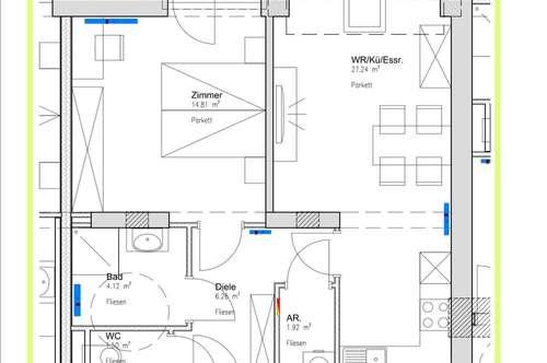 hübsche günstige Wohnung mit Balkon ab 01.12. - Erstbezug