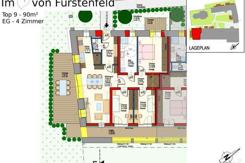 18 Eigentumswohnungen (Erstbezug) in ruhiger Lage in Fürstenfeld! PROVISIONSFREI