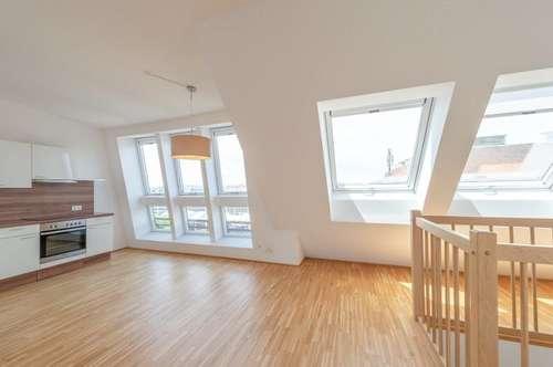++NEU++ großzügige 3-Zimmer DG-Maisonette mit Dachterrasse in Toplage! Burggasse-Stadthalle, große Wohnküche!