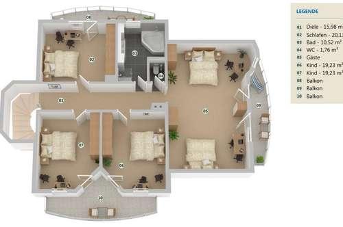 Modernes Zweifamilienhaus mit Terrasse und 2 Garagenplätzen