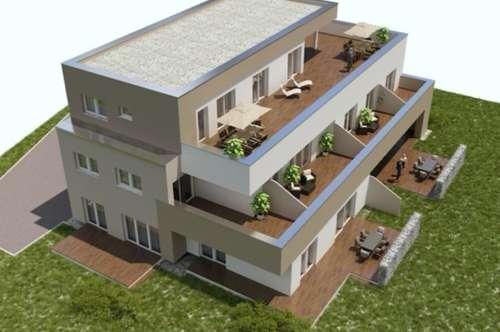 Neubau-4-Zimmer-W. mit ca. 42m² großer Süd-Terrasse/ Straßgang/ provisionsfrei für den Käufer!