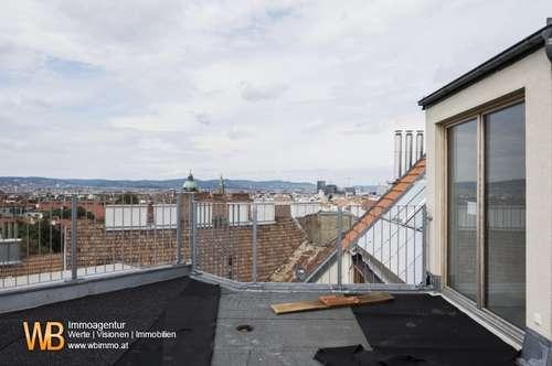 Dachgeschoß-Galeriewohnung-Erstbezug mit Terrasse, U1 vor der Tür