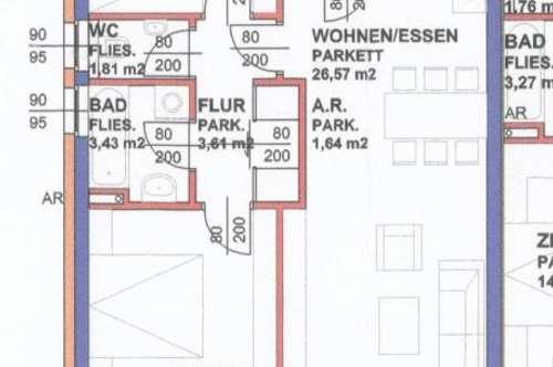Mietwohnung WNFL 76,30m² Feldkirchen an der Donau