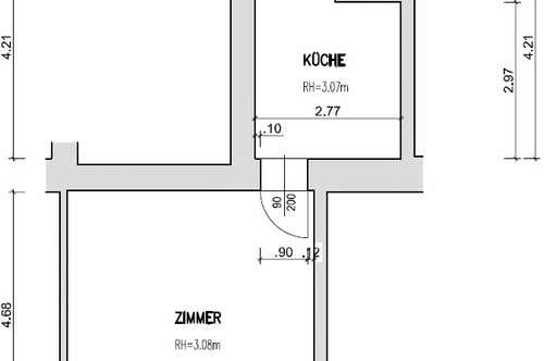 Großartiges Altbau-Garconniere, 34m² + Vorraum + WC, KEINE Provision, KEINE Ablöse