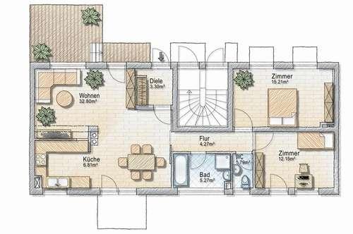 3 Zimmer Mietwohnung in Naas bei Weiz