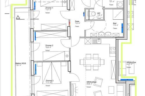 3 Schlafzimmer , großer Balkon und Schnäppchenpreis ! Mietwohnung ab 01.12.2018 bezugsfertig !