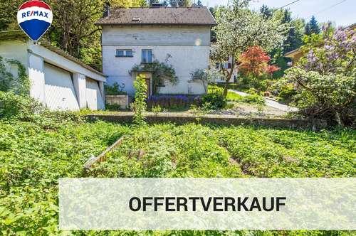 Interessantes Grundstück mit Altbestand in Schwarzach