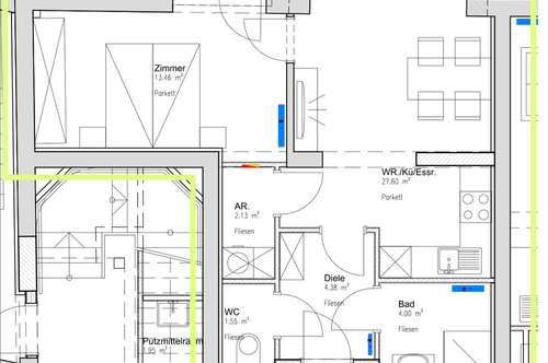 Hübsche geförderte Mietwohnung modern, hell, Balkon, ab 01.12.2018