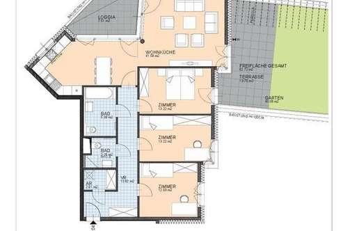 4 Zimmer-Gartenwohnung-Miete