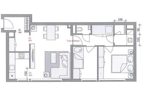 Neu Renovierte 3 Zimmerwohnung für Anleger und Private