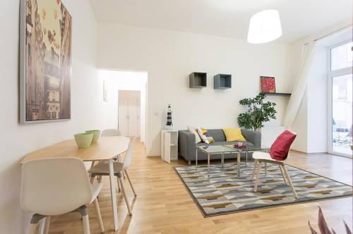 Möblierte Wohnung mit grossem Aussenbereich  in zentraler Lage - komplett möbliert  und ausgestattet