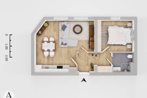 Vermietet! Große Küche! 2-Zimmer DG Wohnung bei U1 Keplerplatz