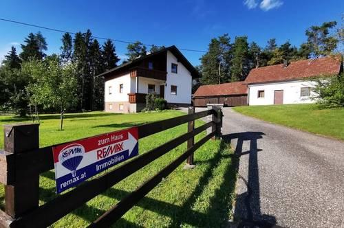 MIETE: Ein-/Zweifamilienhaus mit Nebengebäude/Garage