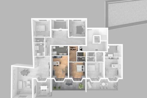 CITY TOWER - Leistbares Stadtleben: Top 5 2-Zimmer-WHG mit großzügigem Balkon