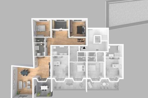 CITY TOWER - Top 6 4-Zimmer-WHG mit Balkon