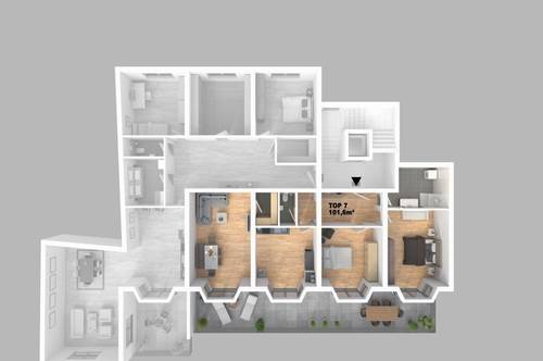 CITY TOWER - Leistbares Stadtleben: Top 7 3-Zimmer-WHG mit riesigem Balkon