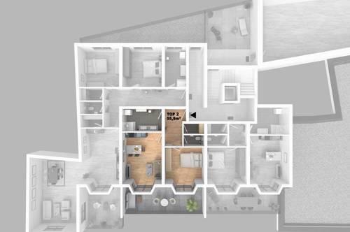CITY TOWER - Leistbares Stadtleben: Top 2 2-Zimmer-WHG mit großzügigem Balkon
