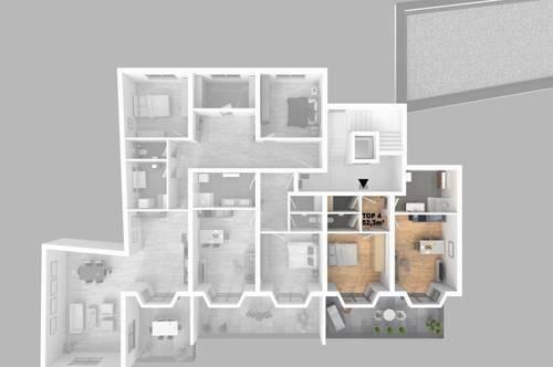 CITY TOWER - Leistbares Stadtleben: Top 4 2-Zimmer-WHG mit großzügigem Balkon