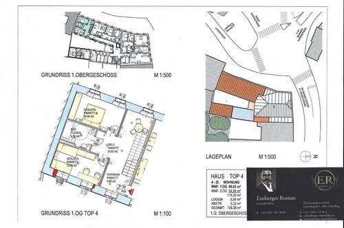 4 Zimmer Maisonette-Wohnen 121m²mit Balkon im Herzen  von Lambach auch 108m² möglich