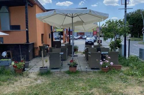 Pizzeria mit Terrasse und Garten!