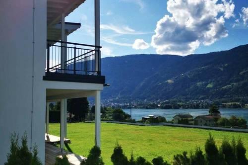 Neubau mit Seeblick, Terrasse und Garten am Ossiacher See mit tollen Wintersportmöglichkeiten