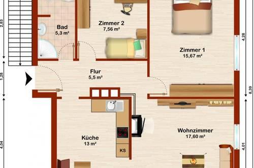 Anleger aufgepasst - preiswerte 3-Zimmerwohnung in Hallein