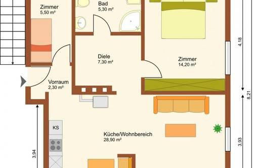 Für Anleger - 2,5-Zimmerwohnung in Hallein