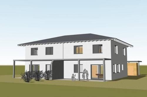 """Familienfreundliches Doppelhaus """"Rainbow"""" ca. 119 m² inkl. Garten und Doppel-Carport"""