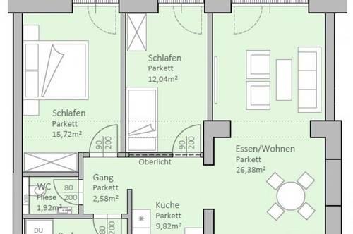 Hochwertige, neue Gartenwohnung am Klopeiner See mit 82 m² Wohnfläche und 29 m² Terrasse, TOP 2, EG