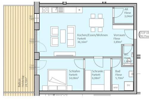 Hochwertige, neue Seeblick-Wohnung mit 71 m² Wohnfläche und 25 m² Terrasse am Klopeiner See, Top 8, 1.OG