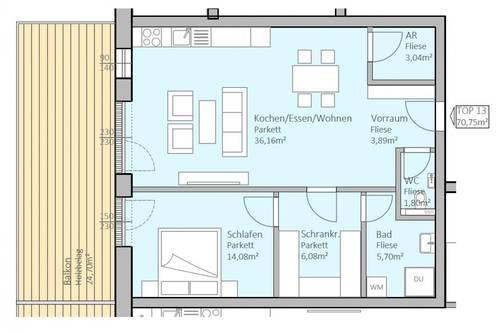 Hochwertige, neue Seeblick-Wohnung mit 71 m² Wohnfläche und 25 m² Terrasse am Klopeiner See, Top 13, 2.OG