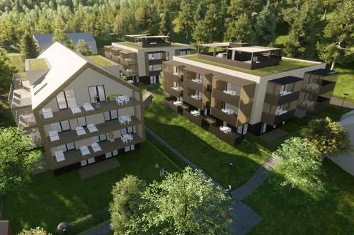 Gut geschnittene, neue Gartenwohnung am Klopeiner See mit ca. 50 m² Wohnfläche, Terrassen und Eigengarten, TOP 3, EG