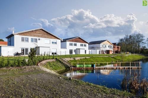 Bruck a.d.Leitha/Prellenkirchen: Wohnen am Wasser - jetzt kaufen, im Frühjahr einziehen, und dann Summersplash vor der Haustür genießen.