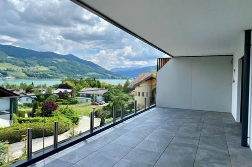 Mondsee: Helle 2 Zi-Whg. mit weitläufiger Terrasse + atemberaubenden Seeblick incl. 2 TG-Plätze!
