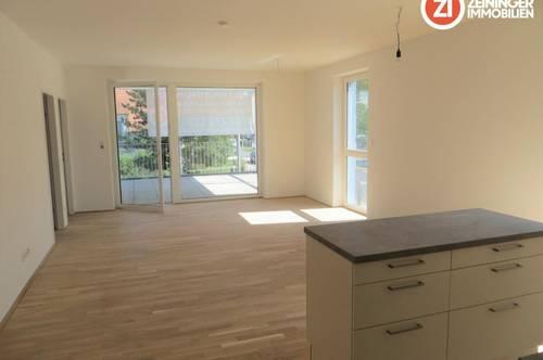 Familientaugliche Neubau 3- Zimmer Wohnung mit Küche u. Balkon