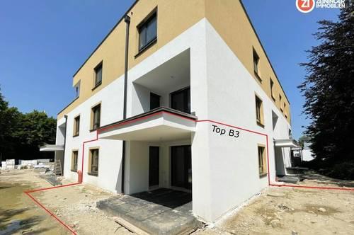 3 Zimmer Wohnung mit ca. 135m² Eigengarten / RIED living / provisionsfrei