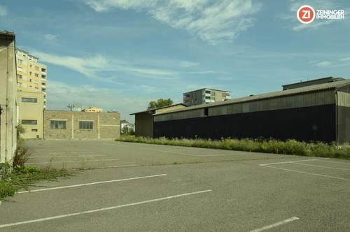 ca. 1850m² Lagerhallen/Kaltlager mit ca. 7100m² Freiflächen - zentrumsnahe