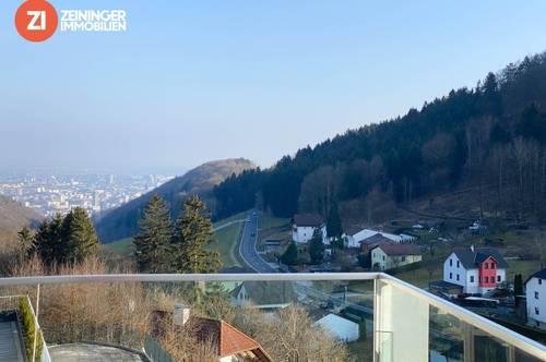 !ERSTBEZUG! Exklusive 3-Zimmer-Balkonwohnung mit magischem Blick auf Linz
