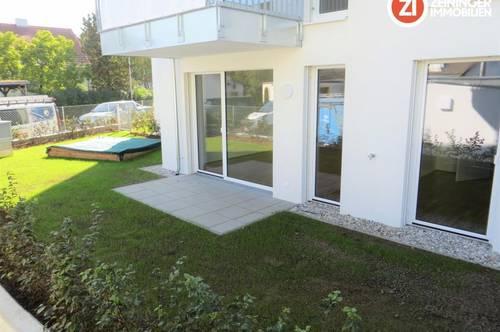 Gemütliche Neubau 2- Zimmer Wohnung mit Küche, Garten und Garagenplatz