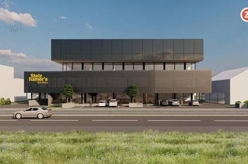Modernstes Büro nahe Plus City - 417m² flexible Fläche