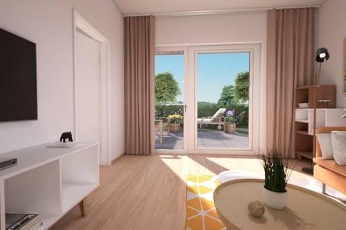 perfekt aufgeteilte 2-Zimmer Wohnung mit Eigengarten