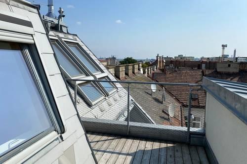 1120 WIEN: NÄHE BAHNHOF MEIDLING: Traumhaft schöne 2-Zimmer-Dachterrassenwohnung