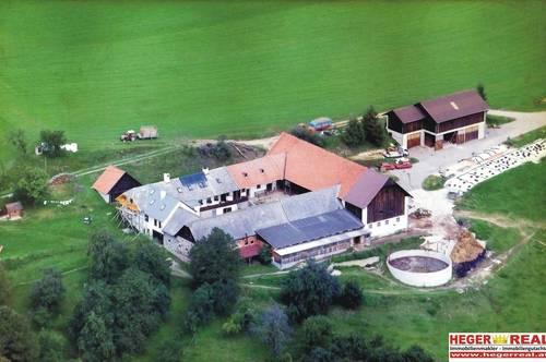 VIERKANTHOF - 330.000m² GRUND - LANDWIRTSCHAFT - EIGENE QUELLE