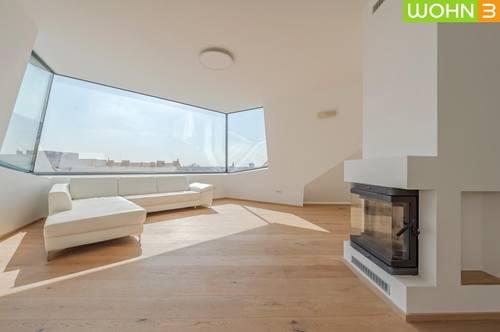 1180 WIEN, 245 m² luxuriöses Dachgeschoss Penthouse mit Blick über Wien 5,5 Zimmer, 4 Bäder, 4 kleine Terrassen & 93 m² Dachterrasse