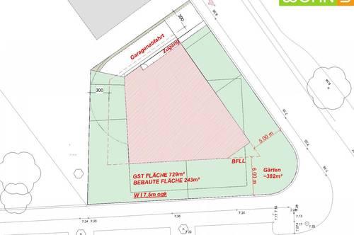 Share Deal oder Asset Deal für Wohnbauprojekt in sehr schöner grüner Floridsdorfer Lage möglich! Sehr gut bebaubares Eckgrundstück!