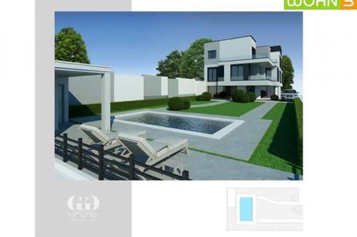 Das clevere Reihenhaus mit Pool am Badeteich Hirschstetten! ERSTBEZUG-NEUBAUPROJEKT! Exklusive Ausstattung, 50m² Gartenparzelle , Architekten Haus!Keller mit Tageslichtfenster!