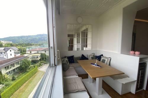Entzückende 3 Zimmerwohnung mit seitlichem Seeblick im Zentrum von Pörtschach in absoluter Ruhelage!