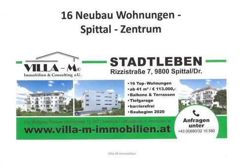 Nur noch 4 NEUBAU Stadtwohnungen verfügbar - Zentrum von Spittal - Nähe Stadtpark