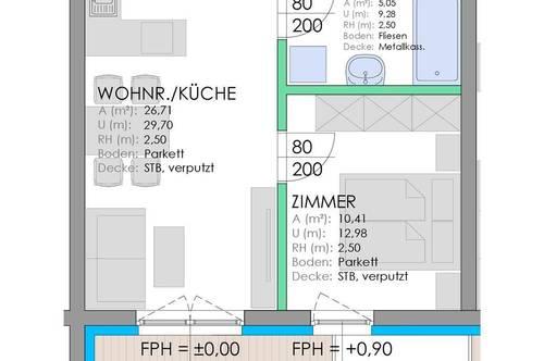 RESERVIERT! Neubau Stadtwohnung - Wohnanlage Rizzistraße 7 - Nähe Stadtpark
